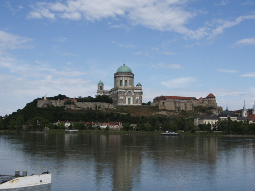 Esztergom cathedral seen from the slowakian side