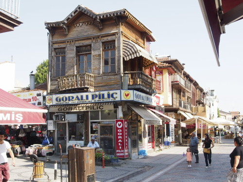 wooden house in central Edirne