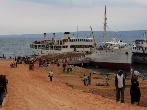MV Liemba docked in Kasanga (front)